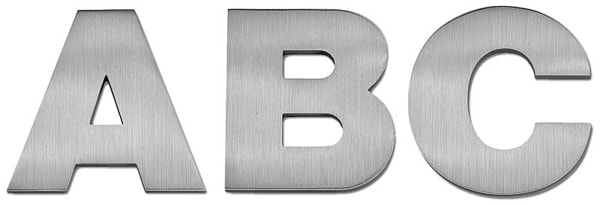 Cast Aluminum Fonts - Letters and Signs