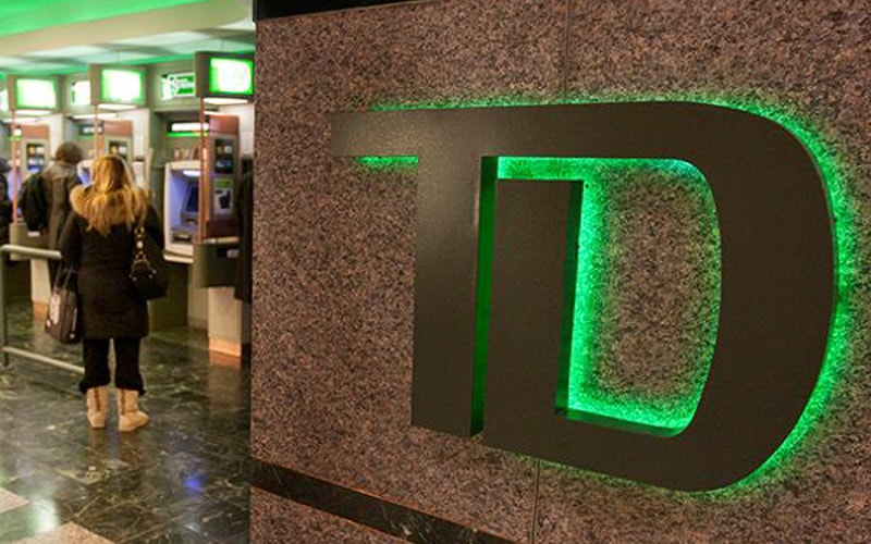 backlit halo logo with green LEDs for bank lobby