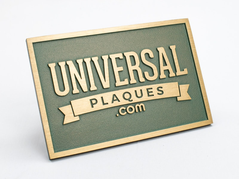 bronze plaque faux verde sample