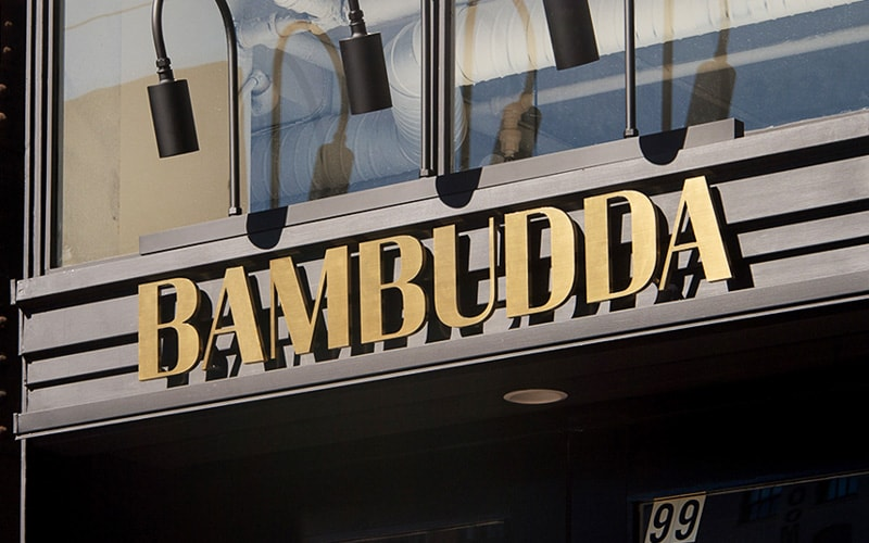 brushed brass metal letters bambudda retail