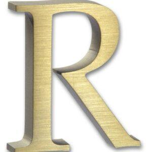 Brushed Brass letter