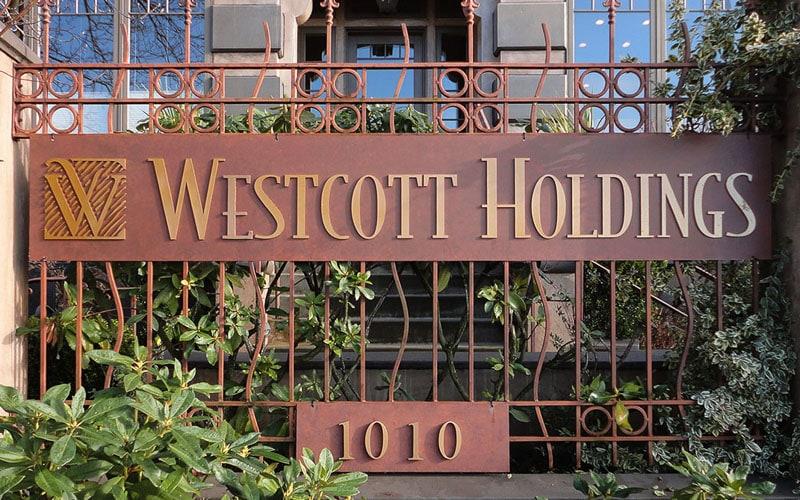 brushed bronze metal westcott outside gate