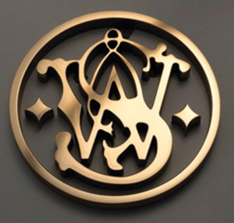 brushed cast bronze metal logo smith weston
