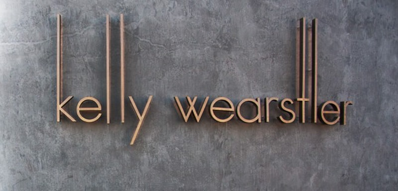 fabricated copper metal letters kelly retail
