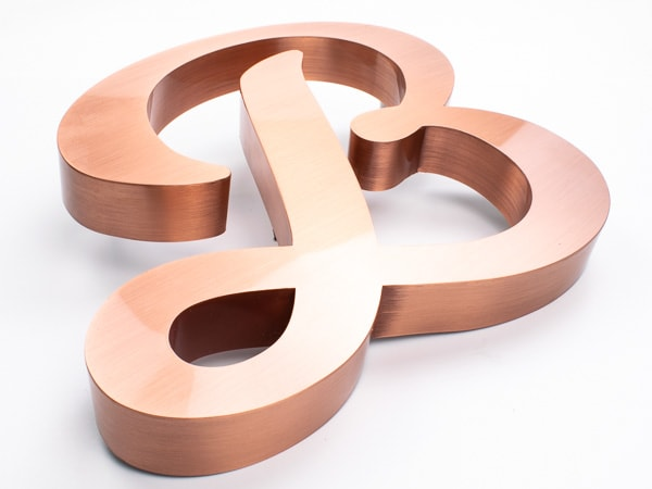 fabricated metal brushed copper sample