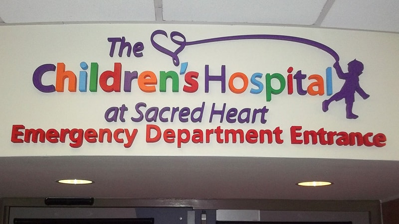 foam letters painted childrens hospital