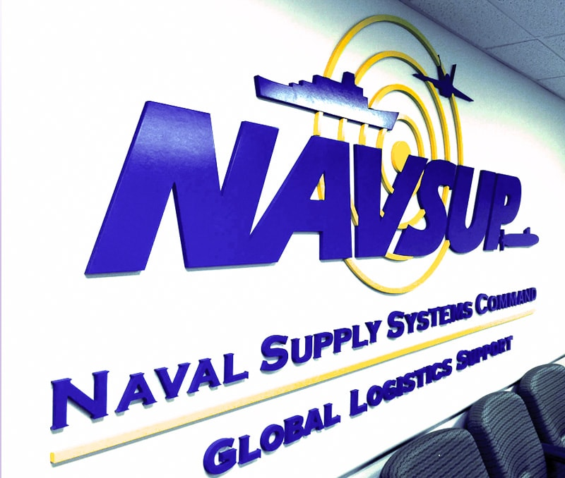 foam logo painted blue yellow navsup