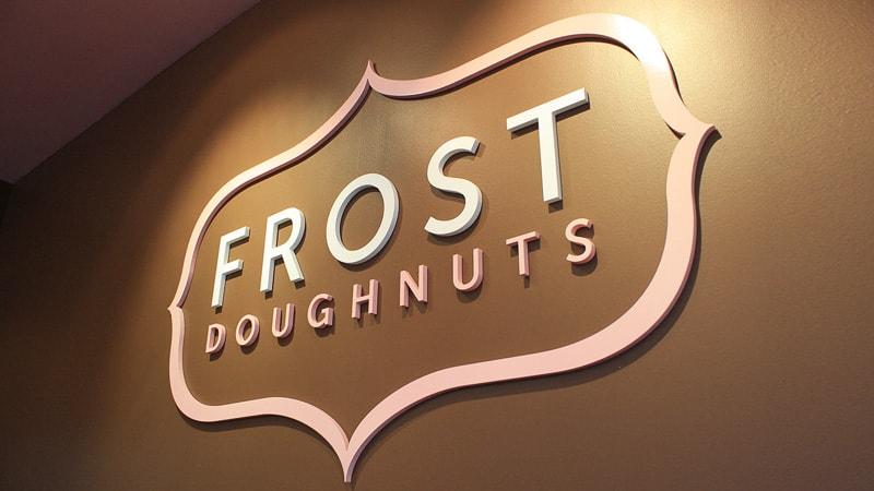 foam logo pink frost restaurant