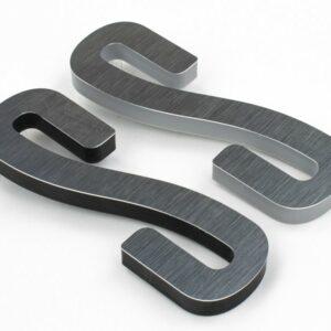 metal laminate brushed pewter on silver black acrylic