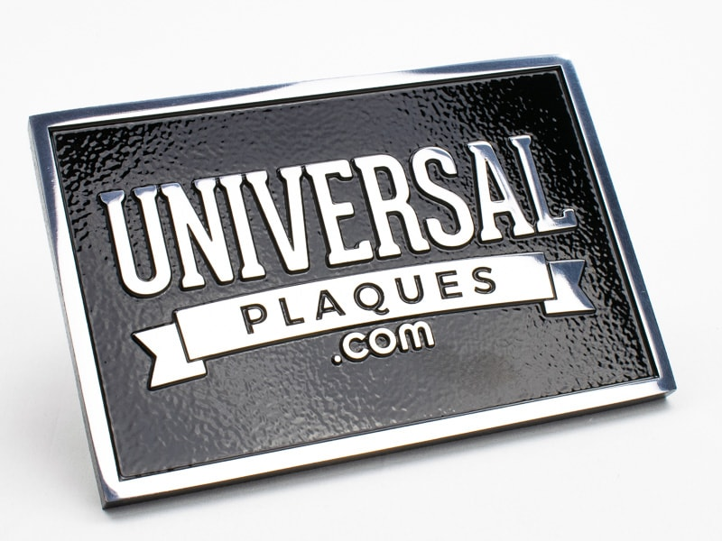 polished aluminum plaque sample