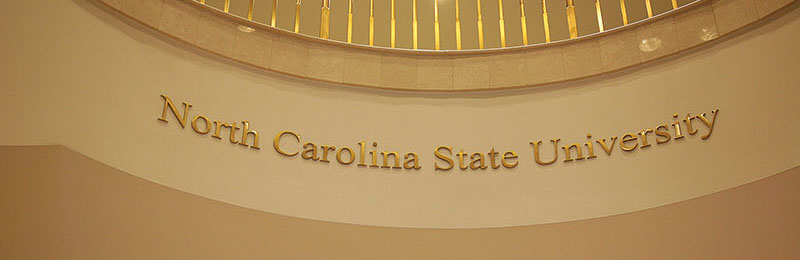 polished brass metal letters nc state university