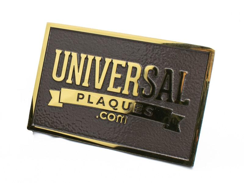 polished brass plaque sample 2