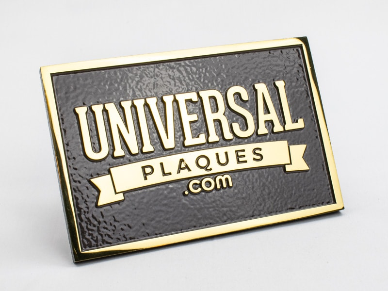 polished brass plaque sample