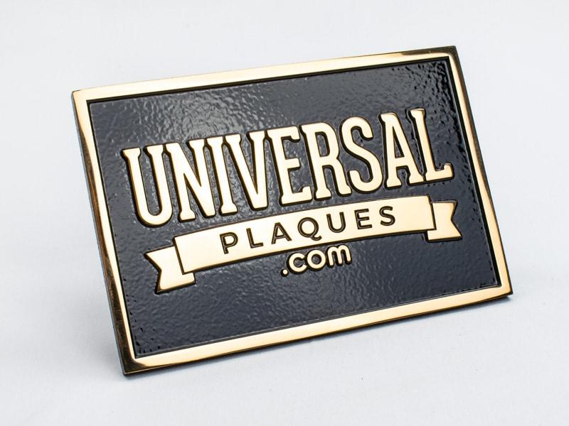 polished bronze plaque sample