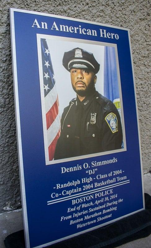 aluminum metal plaque color print commemorative hero 3