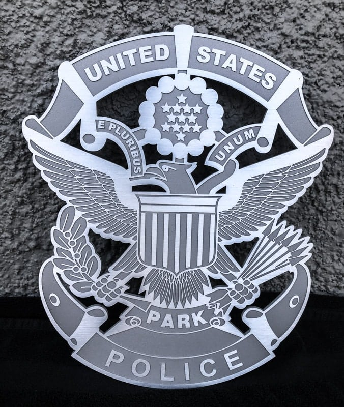 aluminum metal plaque custom park police 3