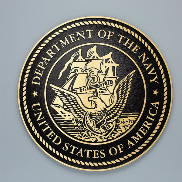 cast brass navy seal military plaque
