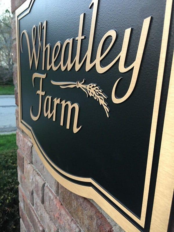 bronze metal plaque double line wheatley neighborhood 2