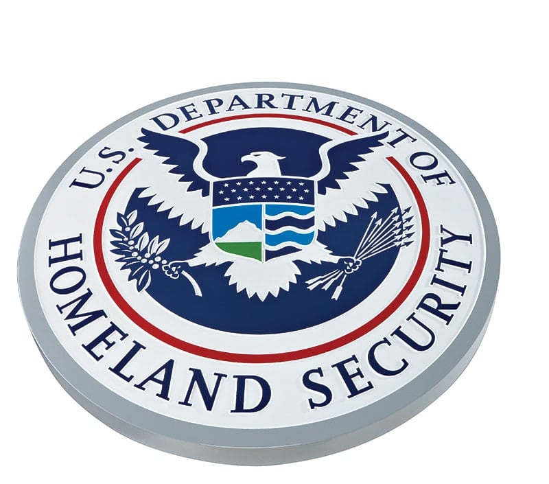 painted aluminum metal plaque homeland government seal