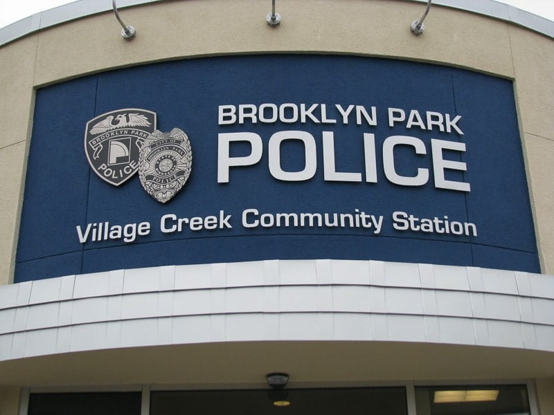 stainless metal plaque etched brooklyn police 3