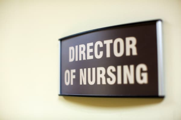 curved wall sign for nursing station hospital