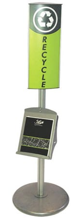 stading pylon tower with removable face brochure holder