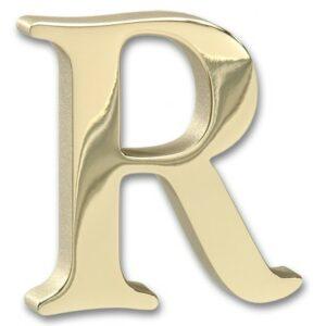 polished brass sample letter
