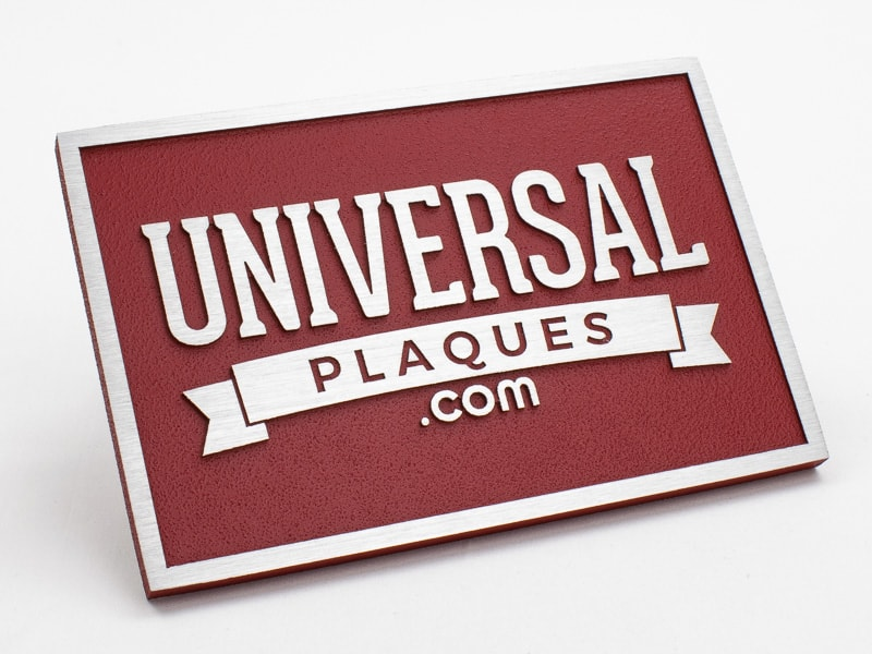 Brushed Aluminum Plaque sample