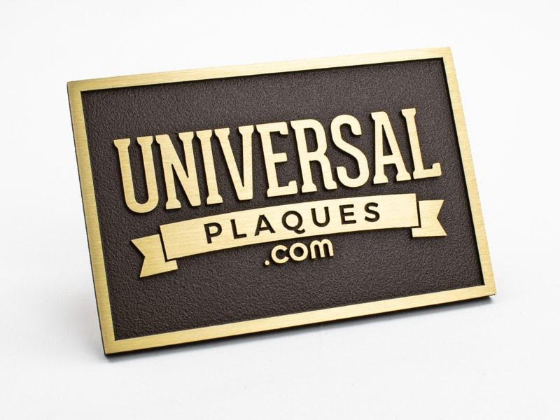 brass plaque sample
