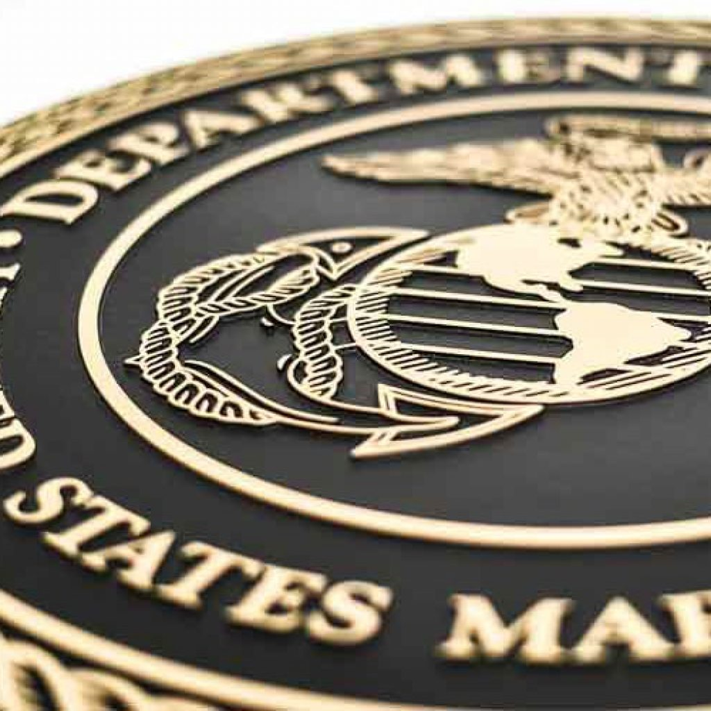 Cast Bronze Military Seal Plaque for the Marines