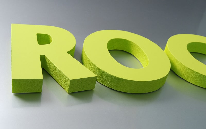 painted lime green thick foam letters flush mount with double sided tape