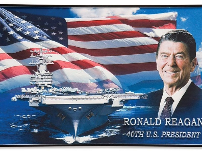 Cast Aluminum commemorative Plaque with Full Color Direct Print portrait for military