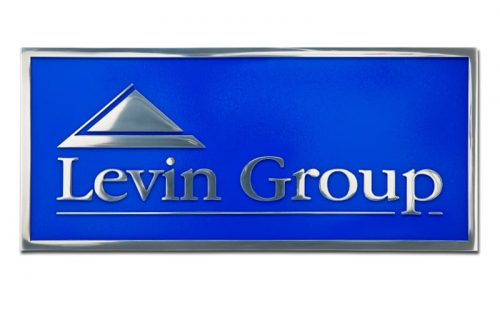 cast aluminum plaque in polished aluminum finish with blue background
