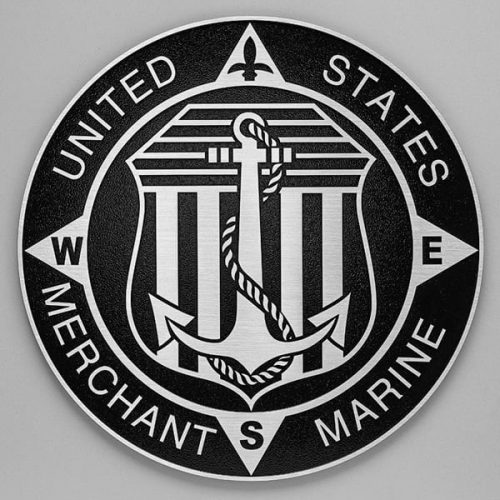 aluminum military plaque seal merchant marine