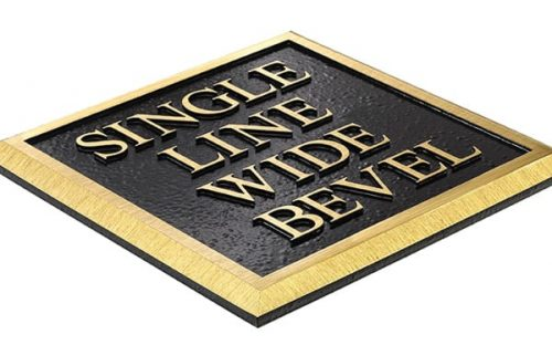 Single Line Wide Bevel border brass plaque