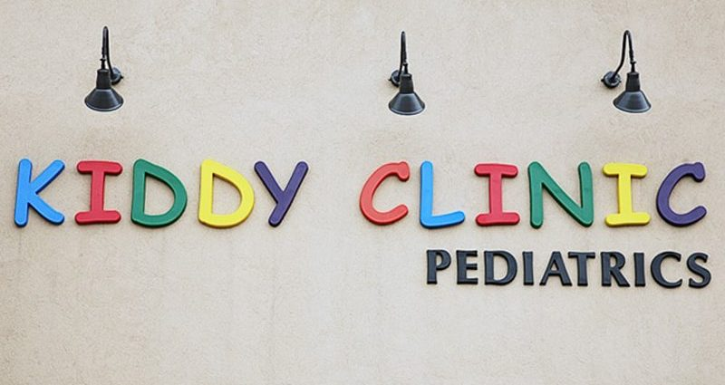 multi colored formed plastic letters for pediatrics school letters outside