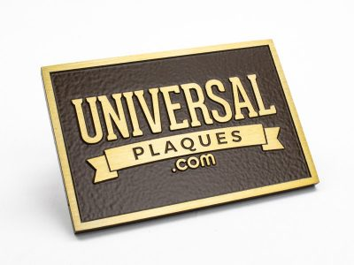 Aluminum Plaque with Flash Bronze finish with raised text