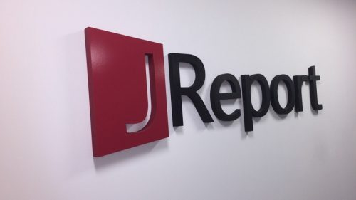 custom painted gatorfoam letters and logo in red and black for lobby
