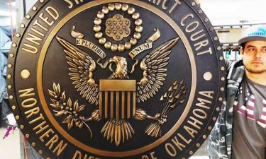large government seal plaque in bronze finish