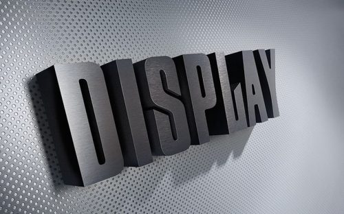 metal on foam letters brushed aluminum face with black foam edge mounted inside