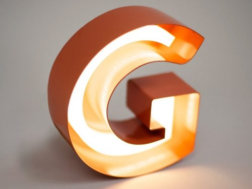 Open Faced Illuminated Letter orange
